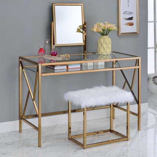 Shop Silver Orchid Pontoppidan 2 Piece Vanity Table Set On