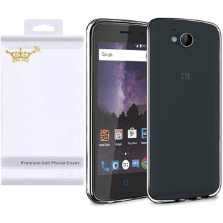 Insten Black Frosted TPU Rubber Candy Skin Case Cover For ZTE Majesty Pro LTE Z799VL/ Tempo