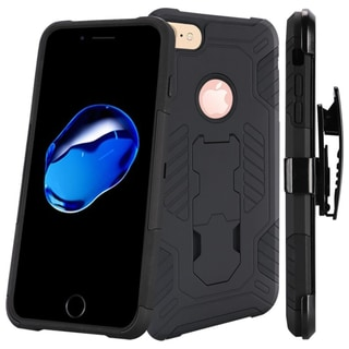 Insten Hard Snap-on Dual Layer Hybrid Case Cover with Stand/ Holster For Apple iPhone 7