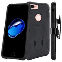Insten Hard Snap-on Dual Layer Hybrid Case Cover with Stand/ Holster For Apple iPhone 7 Plus