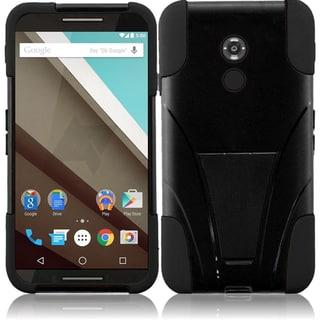 Insten Hard PC/ Silicone Dual Layer Hybrid Case Cover with Stand For Motorola Google Nexus 6