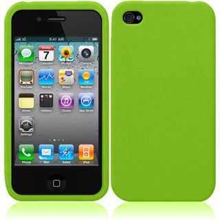 Insten Silicone Skin Gel Rubber Case Cover For Apple iPhone 4S