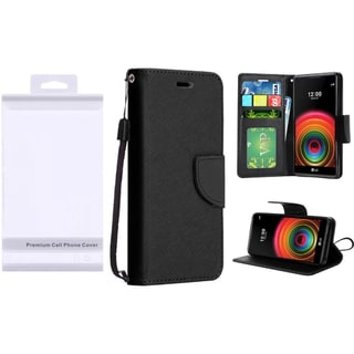 Insten Leather Case Cover Lanyard with Stand For LG X Power
