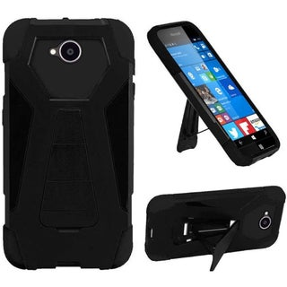 Insten Hard PC/ Silicone Dual Layer Hybrid Case Cover with Stand For Microsoft Lumia 650