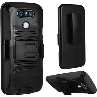 Insten PC/ Silicone Dual Layer Hybrid Case Cover with Holster For LG V20