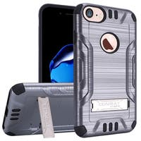 Insten Hard Snap-on Dual Layer Hybrid Case Cover with Stand For Apple iPhone 7