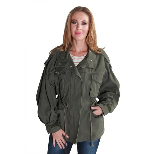 Hadari Women's Casual Fashion Stylish Military Jacket