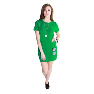 Hadari Women's Casual Fashion Knit T-Shirt Dress