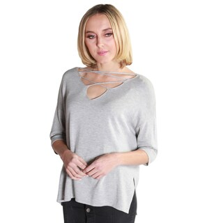 Hadari Women's Casual V-Neck Crisscross Tunic Tops (3 options available)