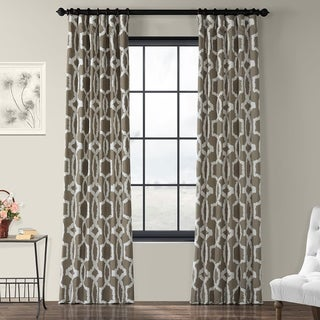 Exclusive Fabrics Lyons Cotton Printed Curtain Panel (50 X 84 - lyons birch)