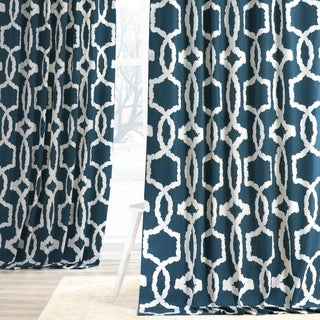 Exclusive Fabrics Lyons Cotton Printed Curtain Panel