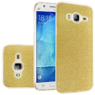 Insten Hard Snap-on Dual Layer Hybrid Glitter Case Cover For Samsung Galaxy J7 (2015)