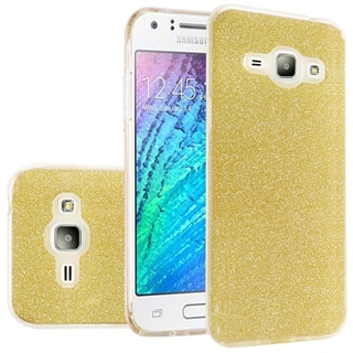 Insten Hard Snap-on Dual Layer Hybrid Glitter Case Cover For Samsung Galaxy Amp 2/ Express 3/ J1 (2016)