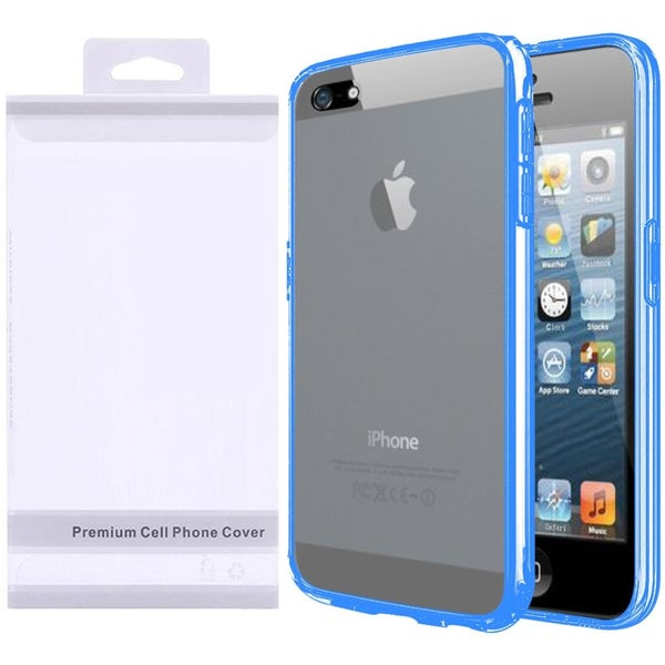 Insten Hard Snap-on Crystal Case Cover with Screen Protector For Apple iPhone 5/ 5S/ SE