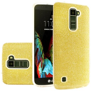Insten Hard Snap-on Dual Layer Hybrid Glitter Case Cover For LG K10/ Premier LTE