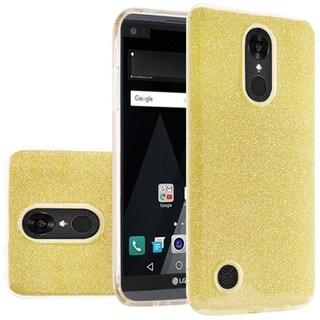 Insten Hard Snap-on Dual Layer Hybrid Glitter Case Cover For LG Aristo/ LV3