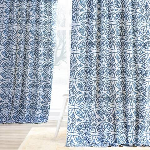Exclusive Fabrics Catalina Cotton Printed Curtain Panel