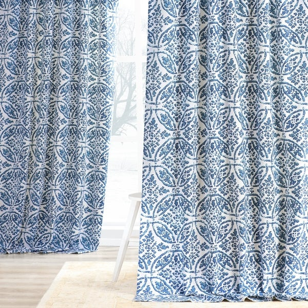 Exclusive Fabrics Catalina Cotton Printed Curtain Panel. Opens flyout.