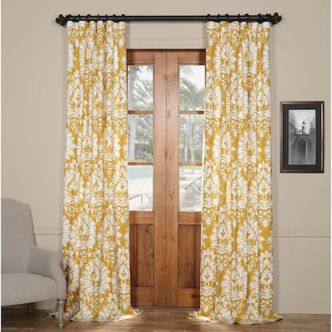 Exclusive Fabrics Lacuna Cotton Printed Curtain Panel