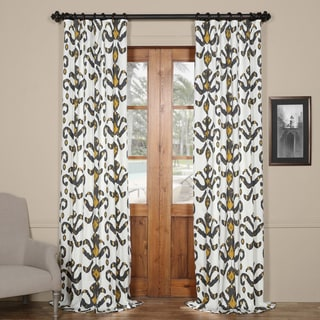 Exclusive Fabrics Lumiere Gold Printed Cotton Curtain Panel