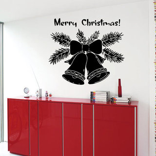 Merry Christmas Wall Words Jingle Bells Vinyl Sticker Home Vinyl Art Decor Nursery Room Sticker Deca