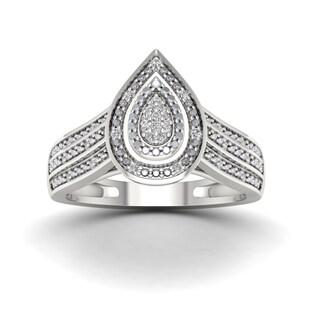 De Couer 1 10ct TDW Diamond Engagement Ring White