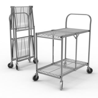 WSCC-2 Two-Shelf Collapsible Wire Utility Cart