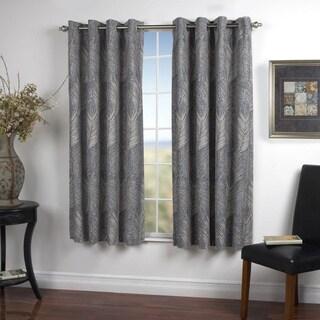 Brookfield Lined Grommet Textured Print Curtain Panel