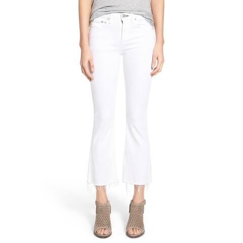 Rag Bone Women's White Denim Size 24 Flare Jeans
