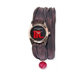 Antica Murrina Zodiaco Collection Burgundy Strap Black Dial Women's Watch