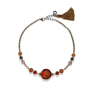 Antica Murrina Dada Collection Stainless Steel, Red Glass Necklace|https://ak1.ostkcdn.com/images/products/14513584/P21068911.jpg?impolicy=medium