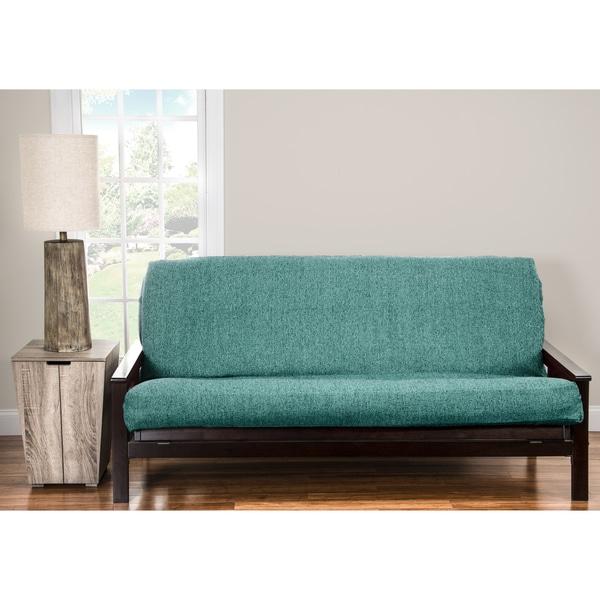 Pologear Belmont Turquoise Homespun Futon Cover Turqoise