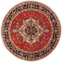 Ecarpet Gallery Hand-Knotted Serapi Heritage Brown Wool Rug (8' x 8')