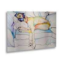 Pat Saunders-White 'Sleeping Beauty' Floating Brushed Aluminum Art