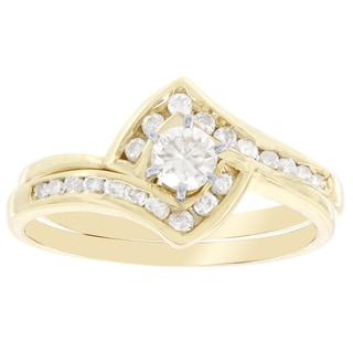 H Star 14k Yellow Gold 1/2ct TDW Diamond Bridal Set (I-J, I2-I3)