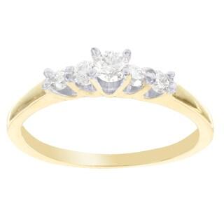 H Star 14k Yellow Gold 1/3ct TDW Diamond Engagement Ring (I-J, I2-I3)