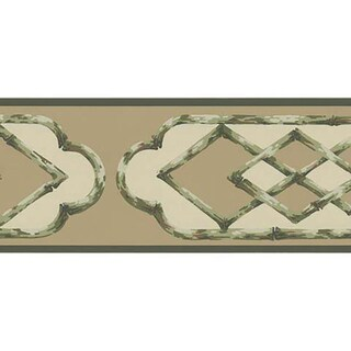 Brewster Green Bamboo Frame Border