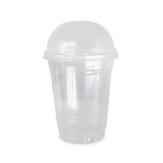 ePackageSupply Clear Plastic Disposable Cup with Dome Lid