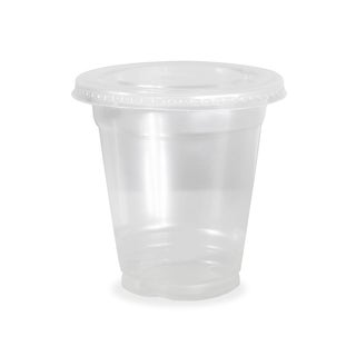 ePackageSupply Clear Plastic Disposable Cup With Flat Lid