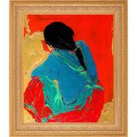 Marilyn Hurst 'Street Seller' Fine Art Print on Canvas