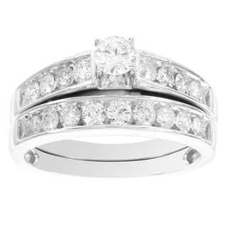 H Star 14k White Gold 1ct Diamond Bridal Set (I-J, I2-I3)