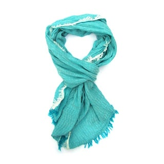 Baby Blue Turkish Cotton/Viscose Unisex Scarf