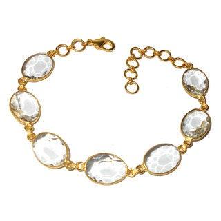Handmade Gold Overlay Quartz Bracelet (India)