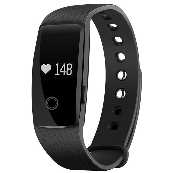 Heart Rate Monitor Smart Fitness Bracelet Health Tracker Activity Wristband Pedometer for Android and iOS Smartphones