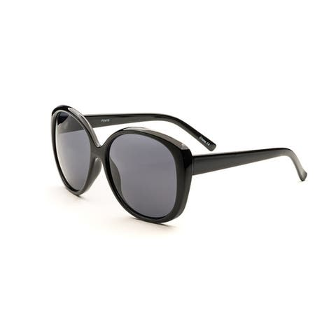 Pop Fashionwear Women's P2419 Oversize Polarized Oval Sunglasses