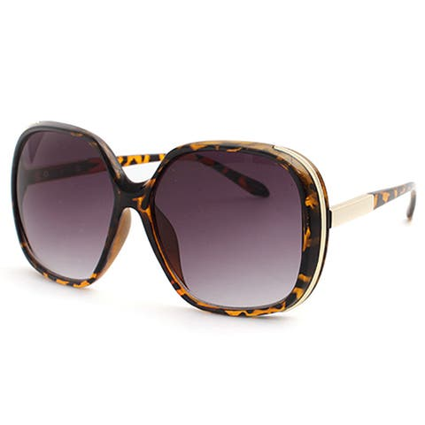 Pop Fashionwear P4004 Women's Tortoise-shell Oversized Polarized Sunglasses