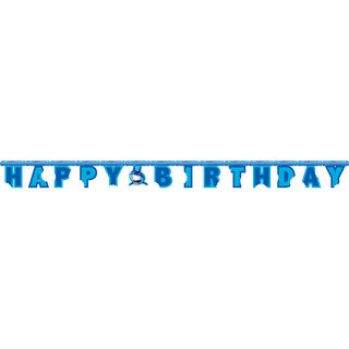Shark Splash Happy Birthday Jointed Party Banner (Pack of 6)