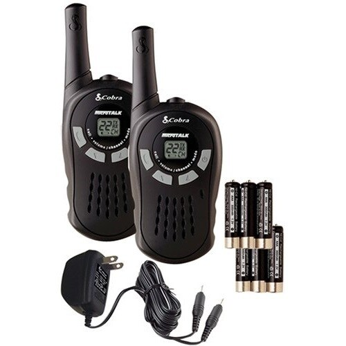 Cobra Black 2-Way 10 Mile Range Radio Pair