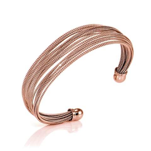Mondeivo Stainless Steel Rope Cuff Bracelet