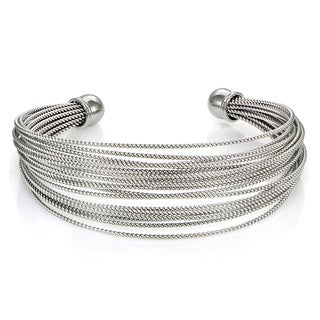Mondeivo Stainless Steel Rope Cuff Bracelet (3 options available)